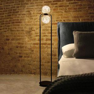 ALMA LIGHT BARCELONA LED stojací lampa Tribeca s alabastrem 2 zdroje