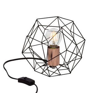 Brilliant Stolní lampa Synergy se stínidlem ve tvaru klece