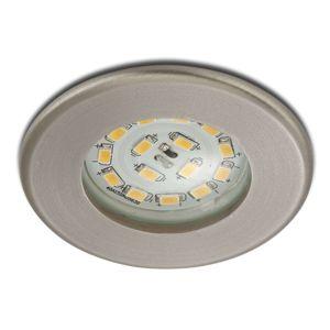 Briloner Účinné LED podhledové svítidlo Nikas IP44 nikl