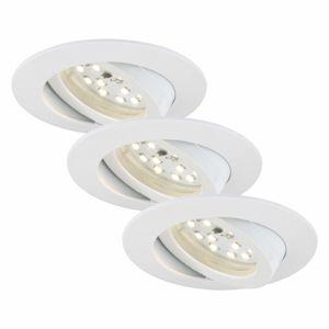 Briloner Otočné LED podhledové svítidlo Bert, sada 3