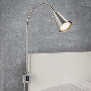 Briloner LED nástěnné světlo 2080, montáž na postel, nikl