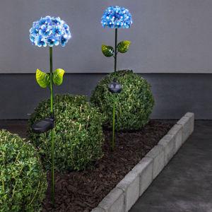 Best Season Hortensia solární světlo ve tvaru květiny, modré