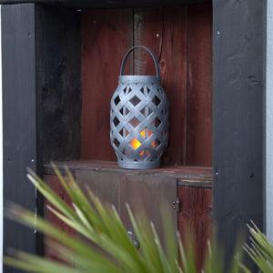 Best Season Wicker Flame LED solární světlo, černá
