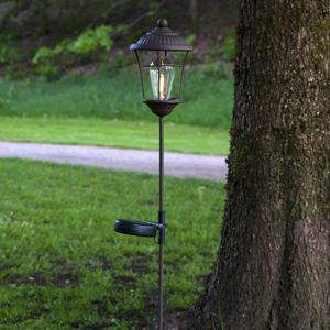 Best Season LED solární lucerna Messina, hnědá