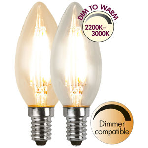 Best Season LED žárovka E14 4W 3 000 K filament dim to warm