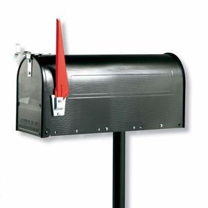 Burgwächter U.S. Mailbox s otočným praporkem, černá