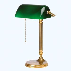 Berliner Messinglamp Ručně vyrobená bankéřská lampa JIVAN