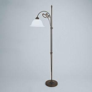 Berliner Messinglamp Decentní stojací lampa Ilka, antické zbarvení