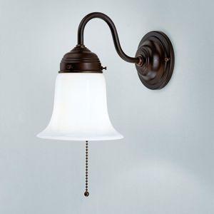 Berliner Messinglamp Nástěnné světlo Sibille s antickým upevněním