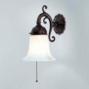 Berliner Messinglamp Nástěnné světlo Gerrit s antickým upevněním