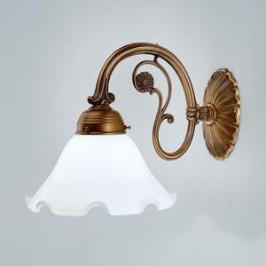 Berliner Messinglamp Nástěnné světlo Gina z mosazi