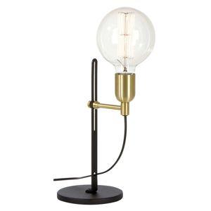 BELID Stolní lampa Regal černá/mosaz 1zdrojová