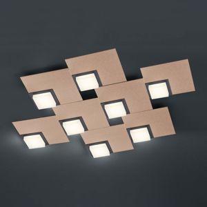 BANKAMP BANKAMP Quadro stropní svítidlo 64 W, růžovo-zlatá