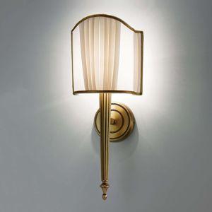Cremasco Nástěnné světlo Belle Epoque ve starožitné mosazi