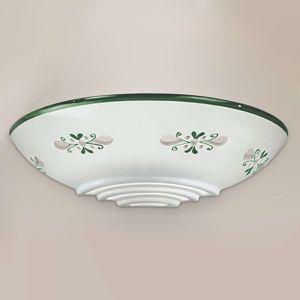 Cremasco Nástěnné světlo Bassano z keramiky přilehlé zelené