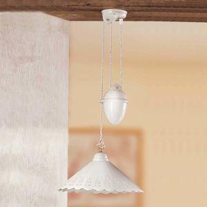 Ceramiche Závěsné světlo Pizzo se závažím, 1zdr, 40 cm
