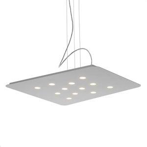 Cattaneo Moderní závěsné světlo LED Fuorisquadra, bílé
