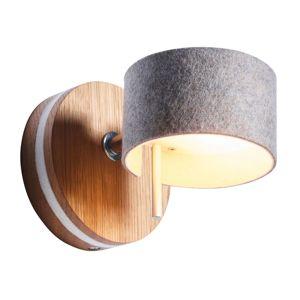 Domus Nástěnné LED světlo Frits, dub a plsť