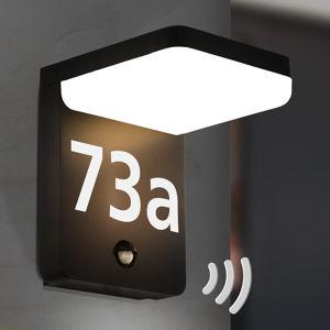 EGLO Amarosi LED osvětlení čísla domu se senzorem