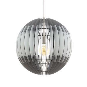 EGLO Černobílé závěsné světlo Olmero z lamel