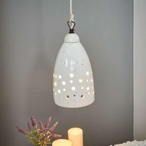 Eurokeramic Dolů svítící závěsné světlo Gisella - keramika