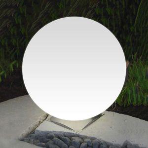 Epstein Ideální kulové světlo Snowball bílé noha nerez 60