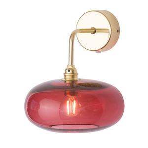 EBB & FLOW EBB & FLOW Horizon nástěnné zlatá/červená Ø 21 cm