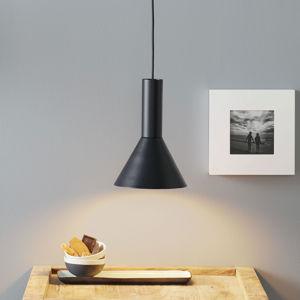 Lucande Lucande Caris závěsné světlo Ø19cm černá/bílá