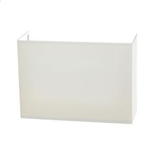 Lucande Lucande Patrik nástěnné světlo hranaté krém 22 cm