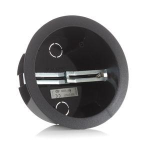 EUTRAC Eutrac instalační nádoba pro bodový vývod, černá