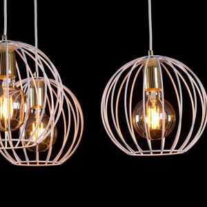EMIBIG LIGHTING Nástěnné světlo Albio K1 s klecovým stínidlem bílá