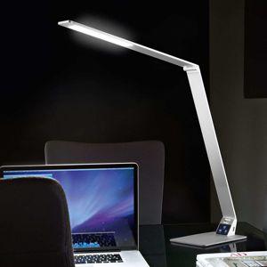 Fabas Luce Plochá stolní pracovní LED lampa Wasp z hliníku