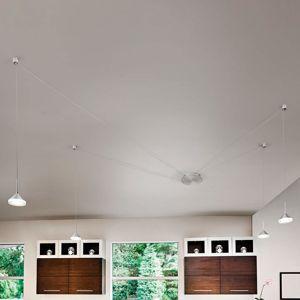Fabas Luce 8 slotů pro kabely – závěsné LED světlo Isabella