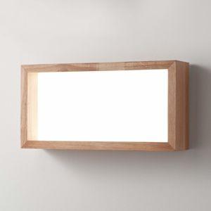 Fabas Luce Nástěnné LED světlo Window, 60 x 30 cm, dub