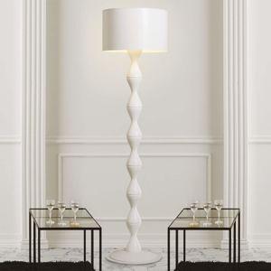 Gibas Bílá designová stojací lampa Sara