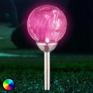 Globo Fin solární LED koule se změnou barvy