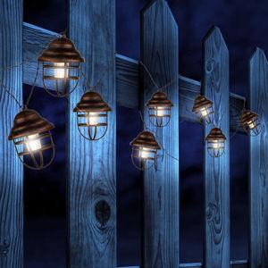 Globo Solární světelný řetěz s 8 lucernami