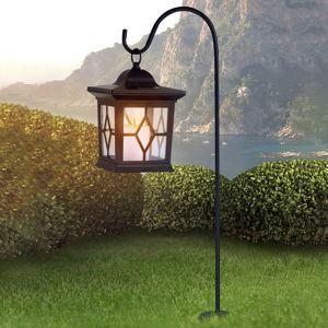 Globo Solární svítidlo Eboni v černé, ve tvaru lucerny