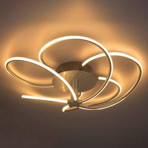 Globo Stříbrné LED stropní svítidlo Wave