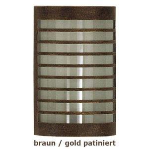 Heibi TERU - nástěnné světlo hnědá/zlatá patina