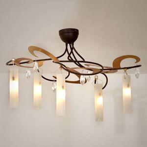 J. Holländer LED stropní svítidlo Casino 5zdr, dekor zlatý