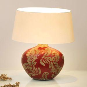 J. Holländer Stolní lampa Toulouse oválná, výška 43 cm, červená