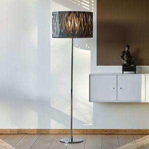 Herstal Stojací lampa Grass s šedým akrylovým stínidlem
