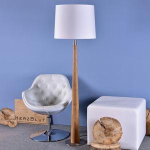 HerzBlut HerzBlut Conico stojací lampa, bílá, dub olejovaný
