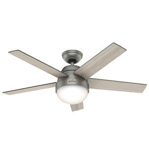 Hunter Hunter Stile ventilátor se světlem šedá/ořech