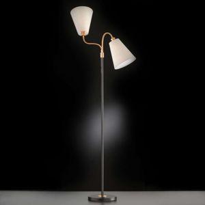 FISCHER & HONSEL Dvouramenná stojací lampa Hopper černá bronz