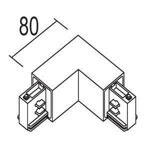 IVELA Ivela 90° rohový vnitřní pro LKM quadro, stříbrná