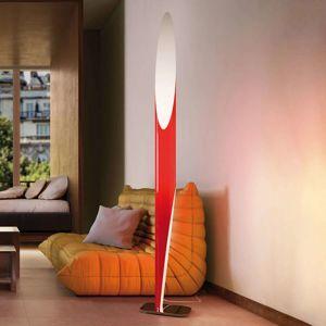 Kundalini Kundalini Shakti stojací lampa chromovaná, červená