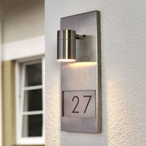 Konstmide Modena 7655, osvětlení domovního čísla, nerez ocel