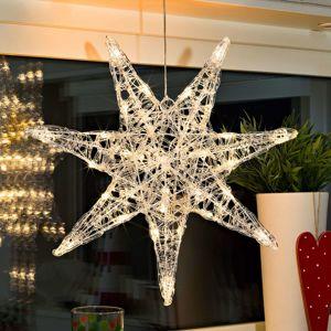 Konstmide CHRISTMAS Sedmicípá akrylová hvězda Iselin s LED